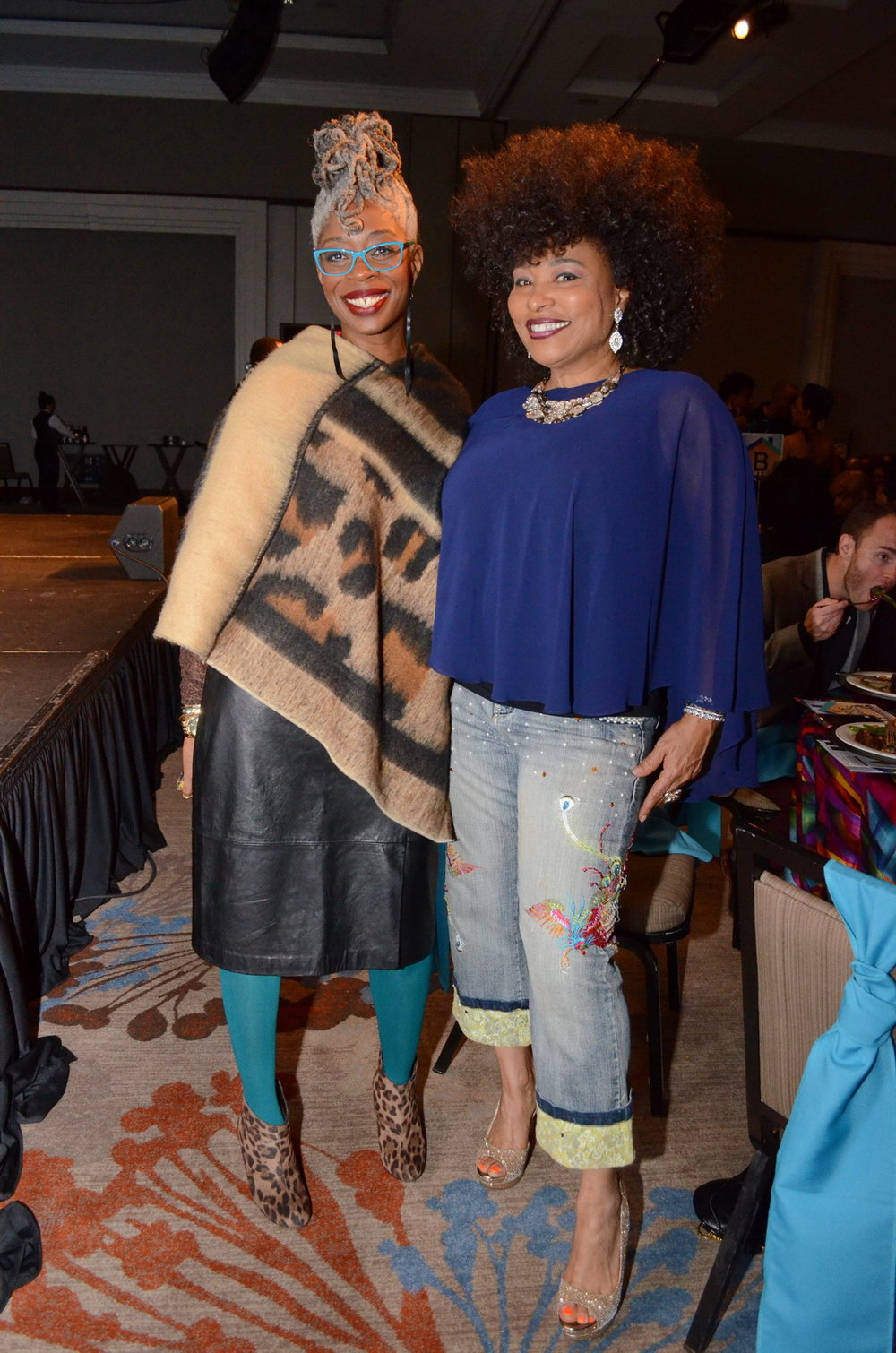 Pride Magazine editor Lashawnda Becoats and syndicated radio journalist Francene Marie Morris.