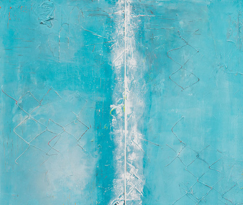Abstract paintings and mixed-media works of art by four contemporary artists are on view at the Gantt Center for African-American Art + Culture.