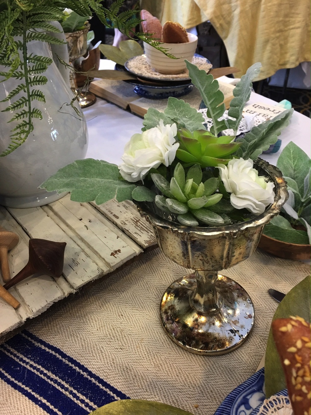 A charming tablescape from Leslie Harris of The Farmhouse Interior Design at the 2016 Festival of Tables. The deadline is quickly approaching for designers to showcase their creativity at this year's event, which will be held April 18 from 10 a.m. to 1 p.m. at the Sheraton uptown.