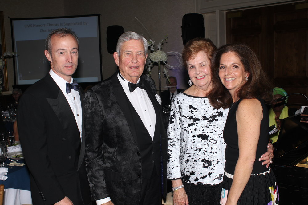 Bruce Schlernitzauer, longtime supporters Sam and Carolyn McMahon, and Leslie Schlernitzauer.