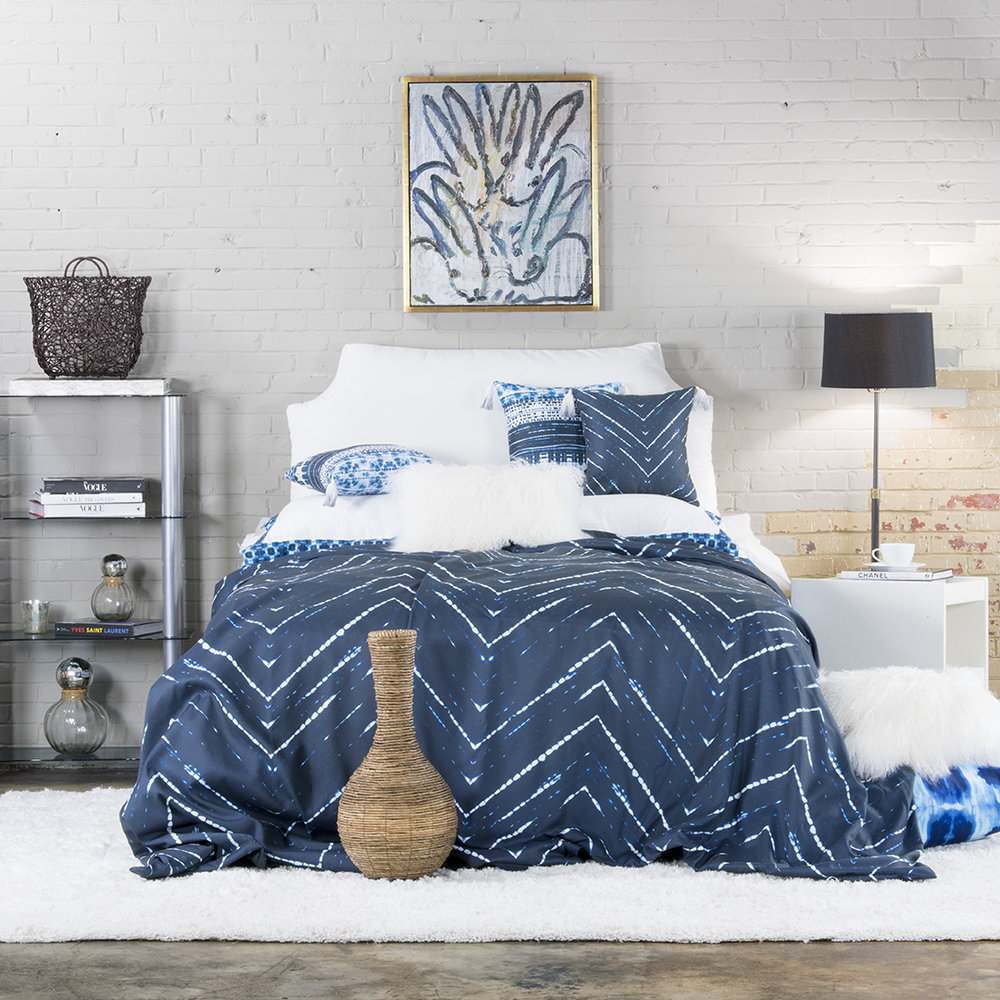 The Mariko bedding collection from LeighDeux.