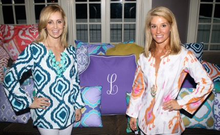 Friends and business partners Leigh-ann Sprock, left, and Leigh Goodwyn launched their web-based dorm and home décor company LeighDeux in 2013. It's important to them that their business makes a difference, so a portion of their sales fund a scholarship at UNC Chapel Hill for women entrepreneurs.
