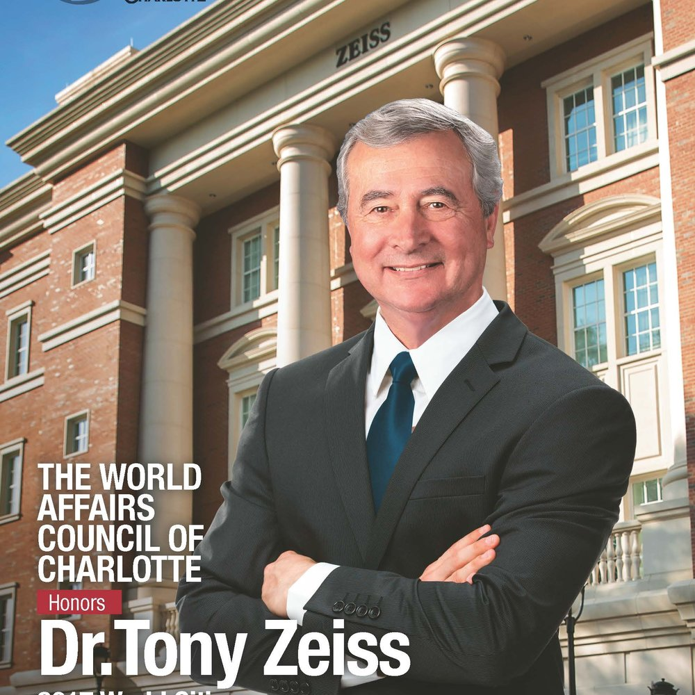Tony Zeiss will receive the 2017 World Citizen Award during a sold-out ceremony May 2.