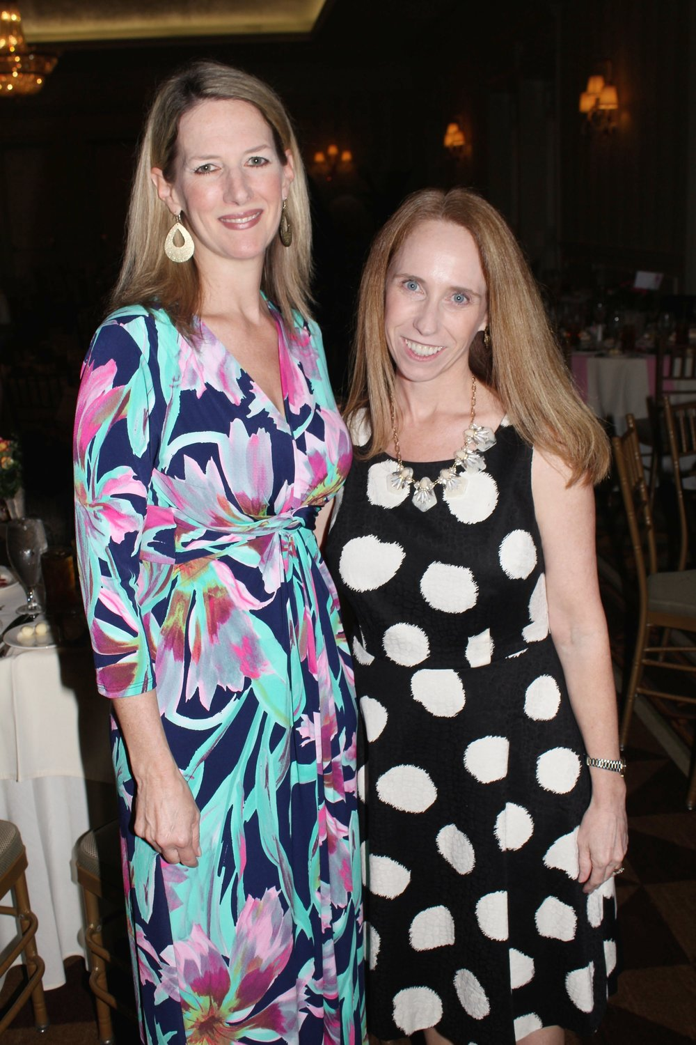 Tricia Jetton, Fashion Show and Silent Auction Chair, left, with Elizabeth Phillips, president of Charity League of Charlotte.  Photos by Daniel Coston