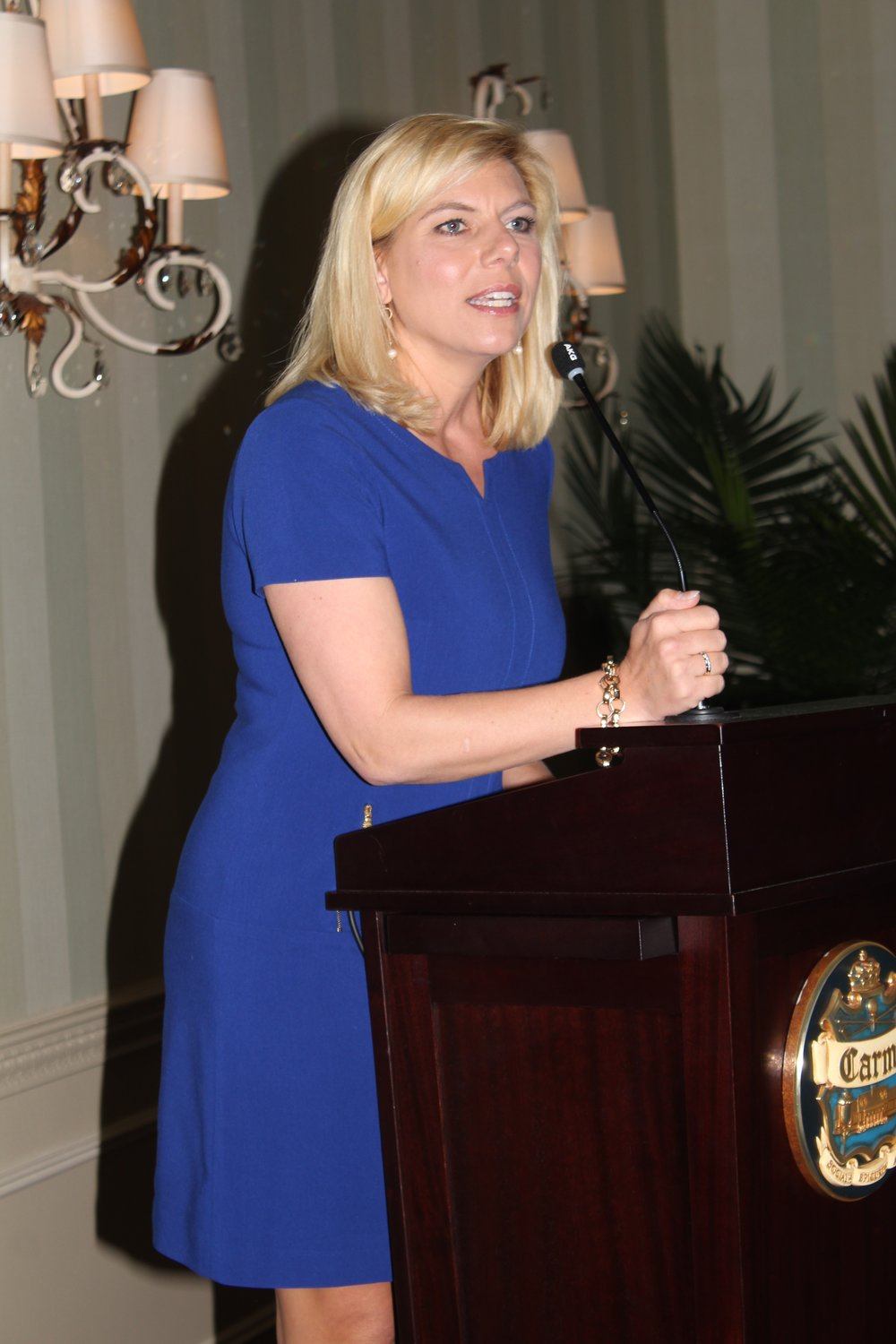 WBTV anchor Molly Grantham was emcee of the fashion show.