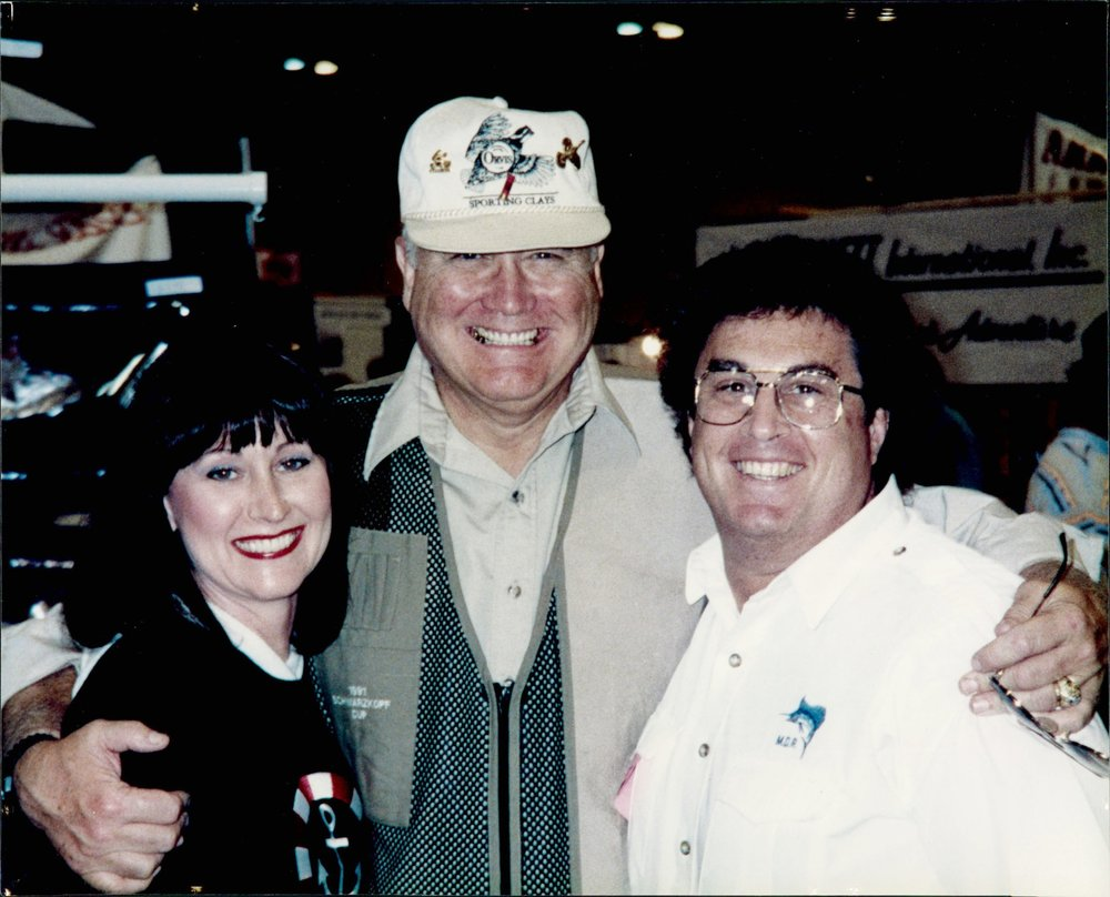 Dianne and her husband with her favorite famous person she's met - Gen. Norman Schwarzkopf.
