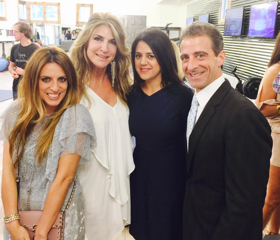 Effie Loukas and Christina Melissaris with Alexandra and Alex Myrick.