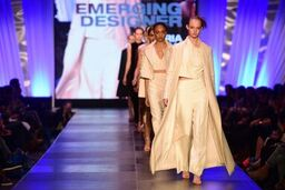 The Victoria Cullinan collection on the runway at Charleston Fashion Week.