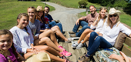 Wagon rides are one of the fun activities offered at the ranch.