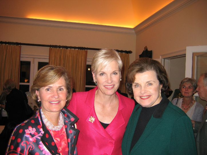 Jill with Cecile Richards and Sen. Dianne Feinstein at a Planned Parenthood National Conference.
