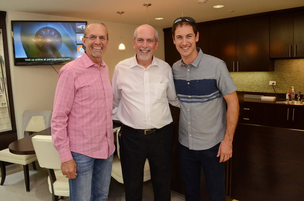 NASCAR legend Kyle Petty, Ernest Perry and NASCAR driver Joey Logano.