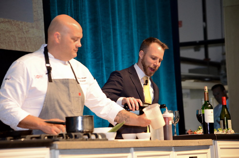 Chef Rocco Whalen and Sommelier Todd Walters.