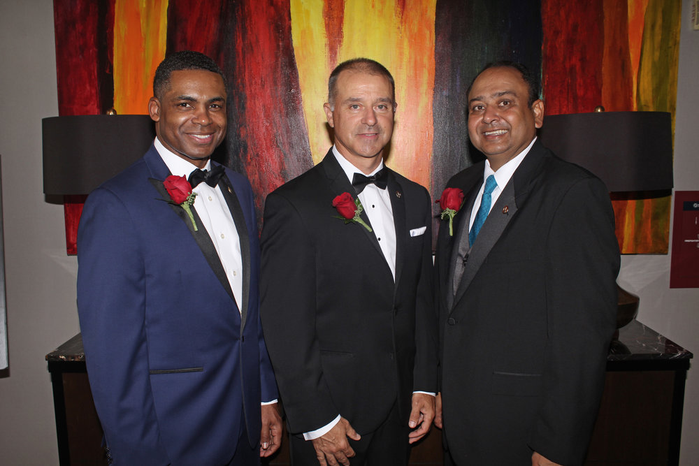 The American Diabetes Association's 2017 Fathers of the Year: Kieth Cockrell of Bank of America, Chad Utermark of Nucor and Vinay Patel of SREE Hotels.   ALL PHOTOS BY DANIEL COSTON