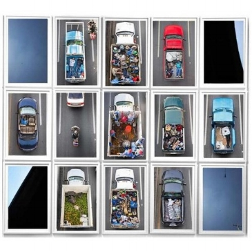 Alejandro Cartagena's Carpoolers IV, 2011-2012, is on view Dec. 8-Jan. 19 at SOCO Gallery. The opening reception is 6-8 p.m. Dec. 13.