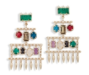 For the woman who likes to make a statement, the Emmylou earring. Also available in gold and antique silver. $195. Kendra Scott at SouthPark mall or click here to order online.
