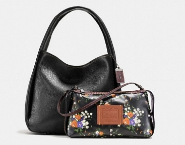 This bag from Coach is so versatile it's actually two bags in one, a hobo bag and a wristlet that can be used together or separately.Bandit Hobo in Black Copper/Black. Also available Black Copper/Oxblood. $595. Coach store at SouthPark mall or click here to order online.