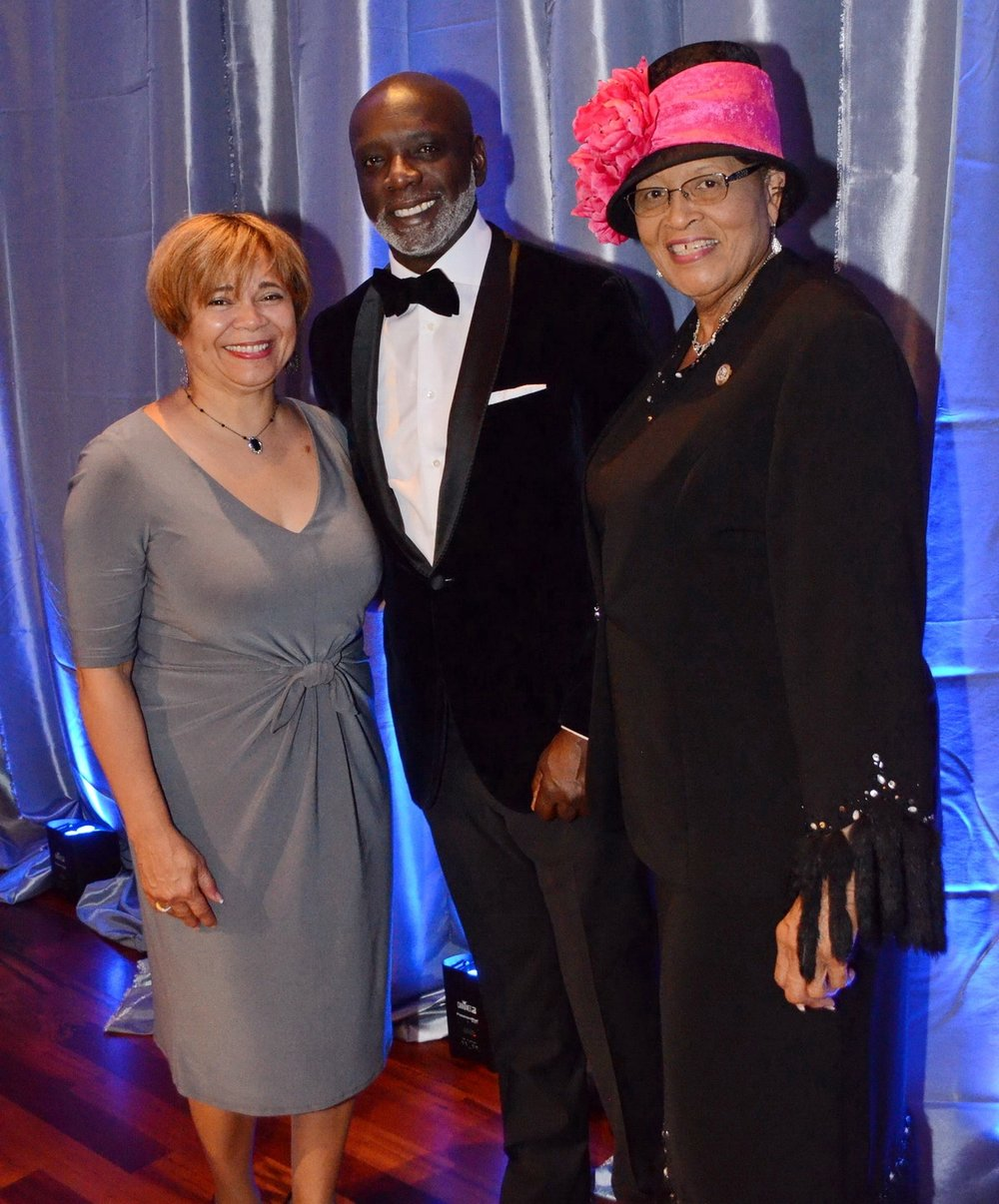 Guests at the Gray Holiday Party included Charlotte Mayor Vi Lyles; reality TV star and Sports One Bar & Lounge owner Peter Thomas; and Congresswoman Alma Adams.