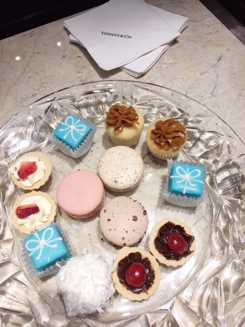 Treats from Reid's included petit fours resembling iconic Tiffany Blue Boxes.