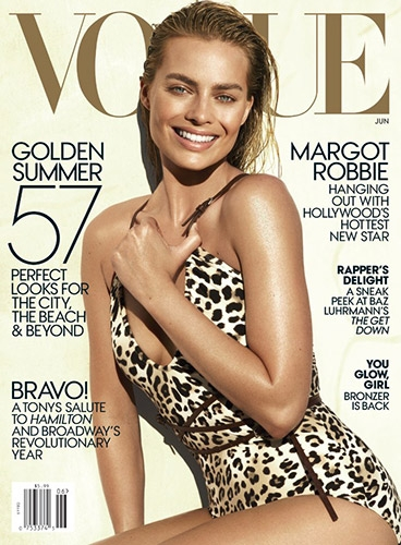 Sir John did the makeup for Margot Robbie's  Vogue  cover.
