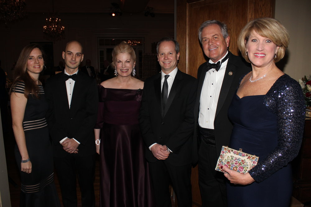 Adrienn Domeny; Honorary Hungarian Consul Chris Domeny;; Pat Farmer, founder and president of the Allegro Foundation; Jason Schugel; US Representative Ralph Norman and Elaine Norman.