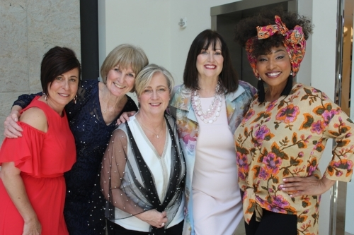 Models at the event were (from left): Darla Desiderio, Sandra McCaslin, Suzanne Walker, Dianne Roth and Francene Marie Morris.