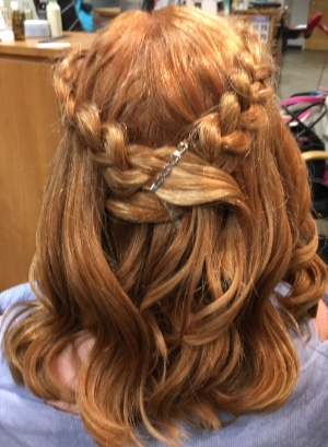 You're never too old for a beautiful braid! Jenn at Carmen! Carmen! Salon created this braided hairstyle for Olivia Fortson.