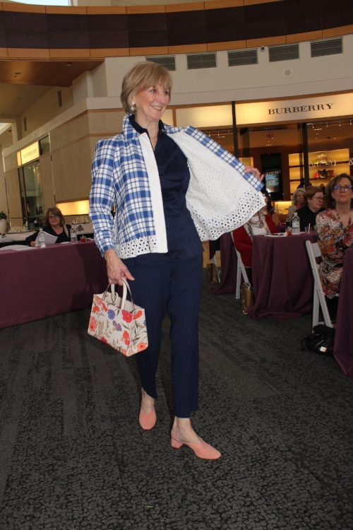 Sandra loved this Lewitt plaid and eyelet jacket from Nordstrom.