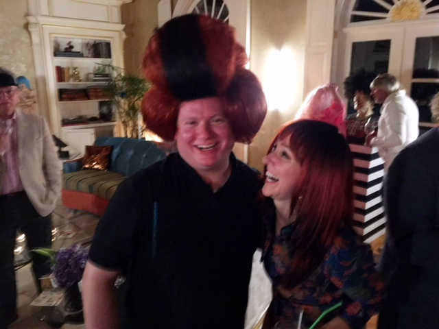 John Witherington won a prize for his hilarious bouffant wig.