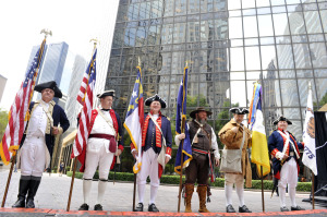 Colonial re-enactors are part of the MecDec Celebration May 18 uptown.