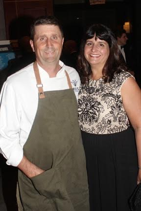 Chef Bruce Moffett and his wife, Katrina