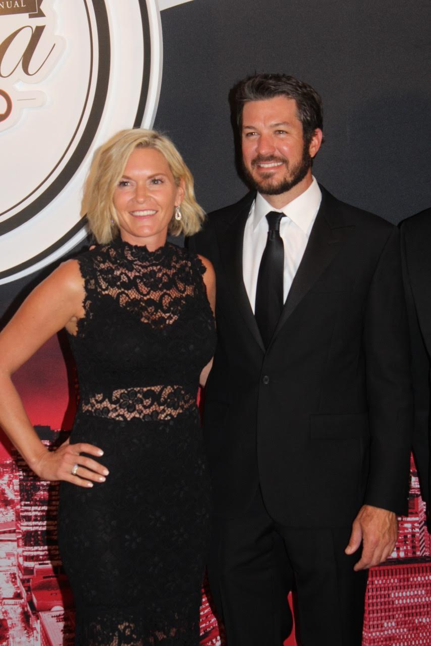 Sherry Pollex and NASCAR's Martin Truex Jr.