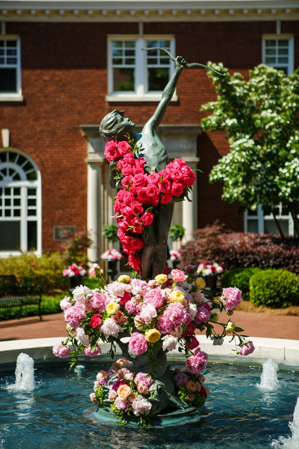 Watered Garden Florist created the stunning floral arrangements.