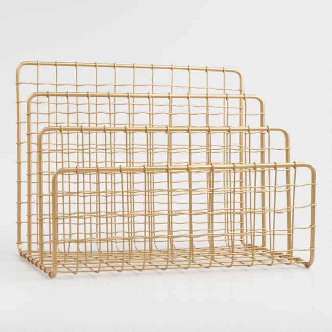 Gold Wire Antonia File Holder, $19.99. World Market