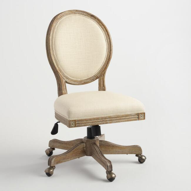 Natural Line Paige Round Back Office Chair, $319.99. World Market