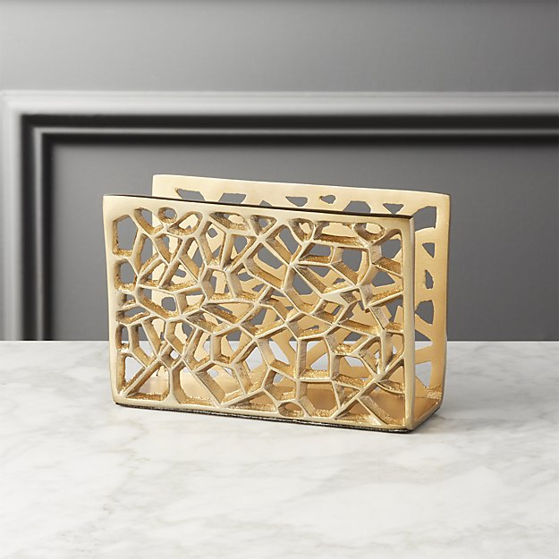 Marais Gold Letter Holder, $12.95. CB2