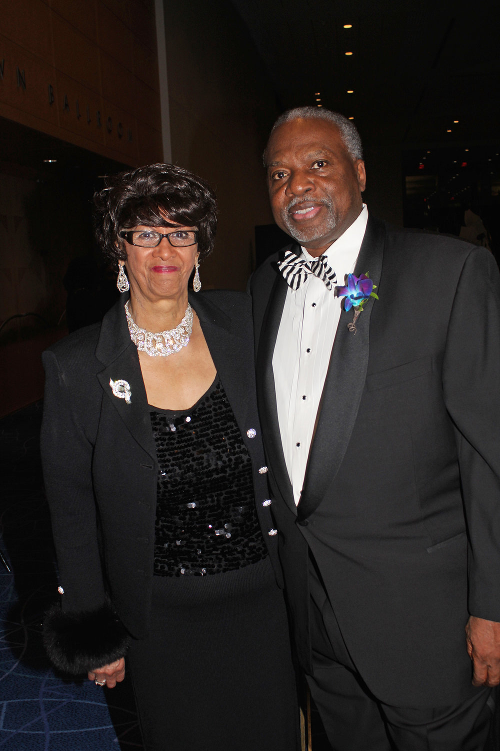 Honoree Dorothy Counts-Scoggins with Gantt Center President & CEO David Taylor.