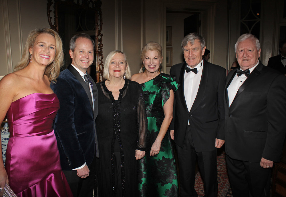Molly Schugel and Jason Schugel, Allegro Board Chairman and Chief Risk Officer for Ally Financial; Greta Mulhall; Pat Farmer, Allegro Founder & President; His Excellency, Daniel Mulhall, Ambassador of Ireland to the United States; and Dr. John Young, Ireland's First Honorary Consul for North Carolina and Founder of McLaughlin Young Group.