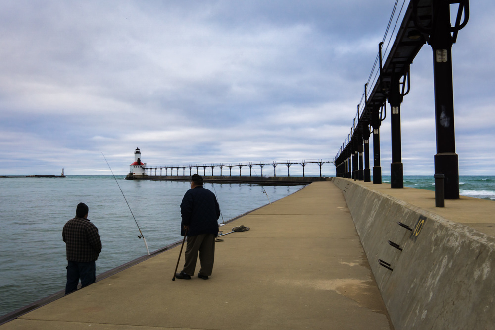 Old Friends by the Michigan City Lighthouse