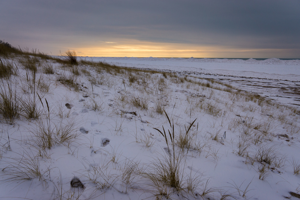 Beginning of twilight hour at Warren Dunes State Park.
