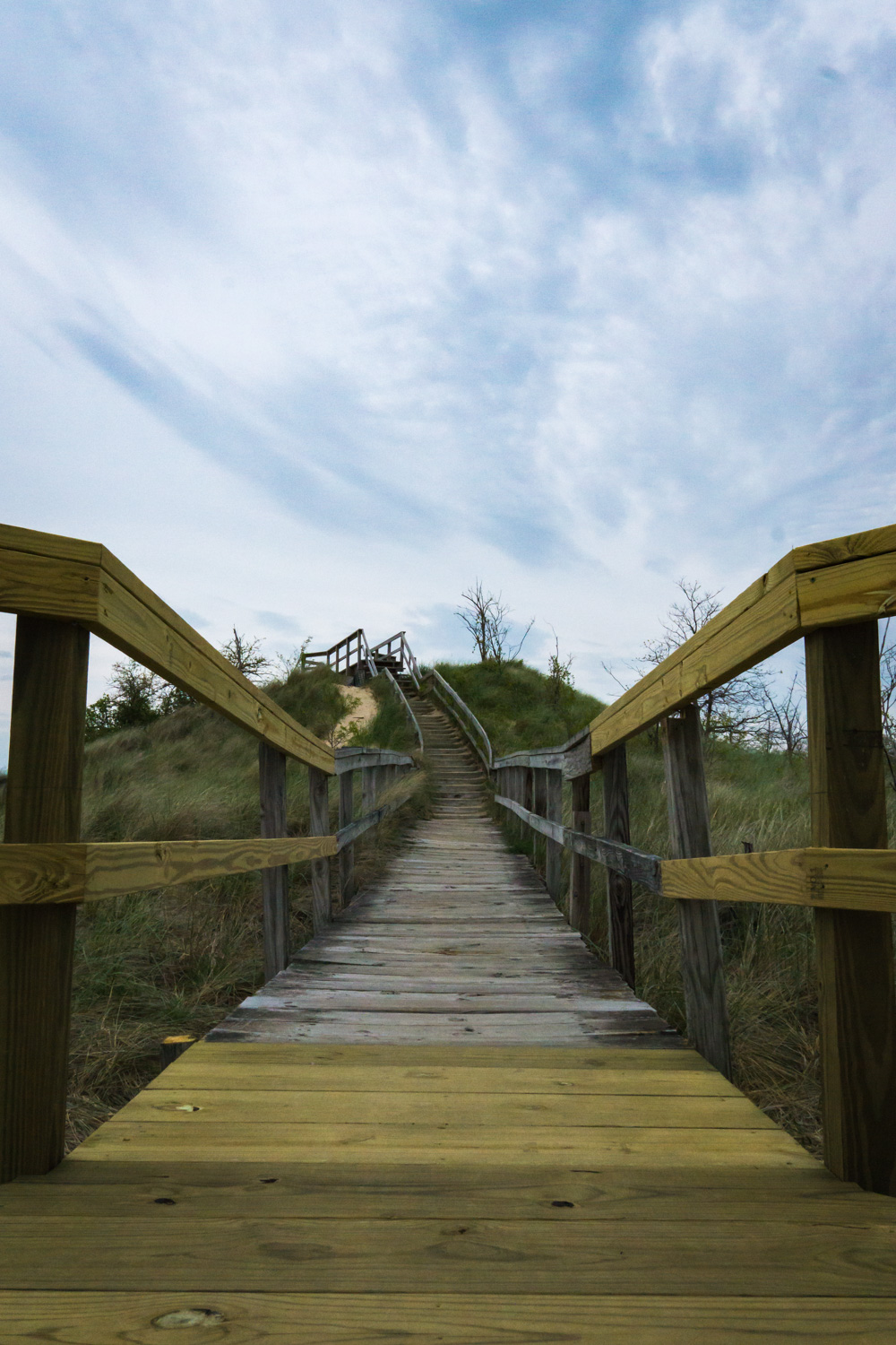 Boardwalk along the dunes.