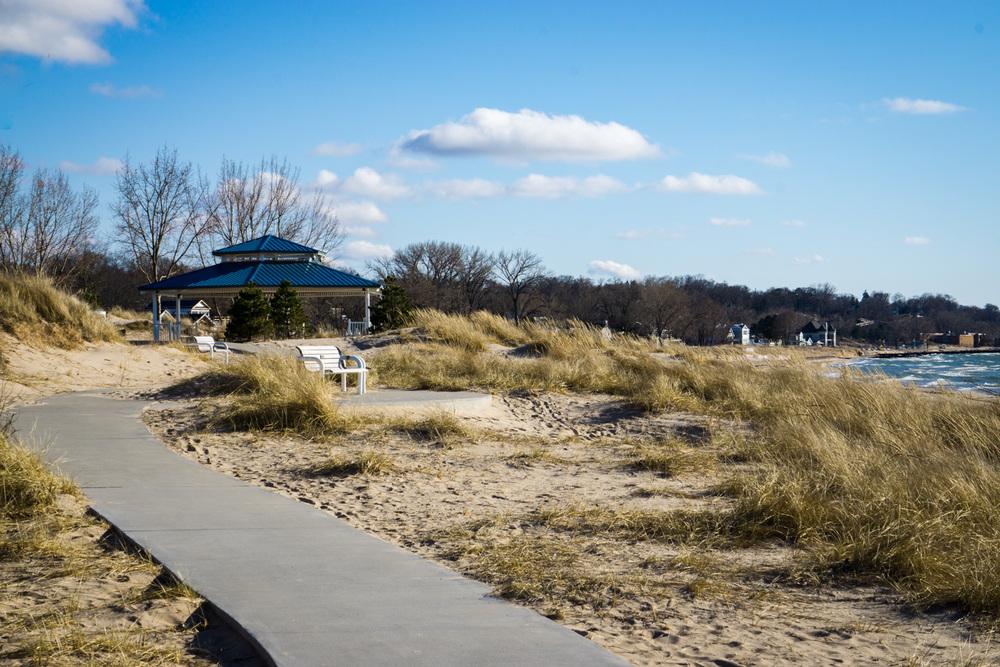 The beautiful Silver Beach of St. Joseph, Michigan