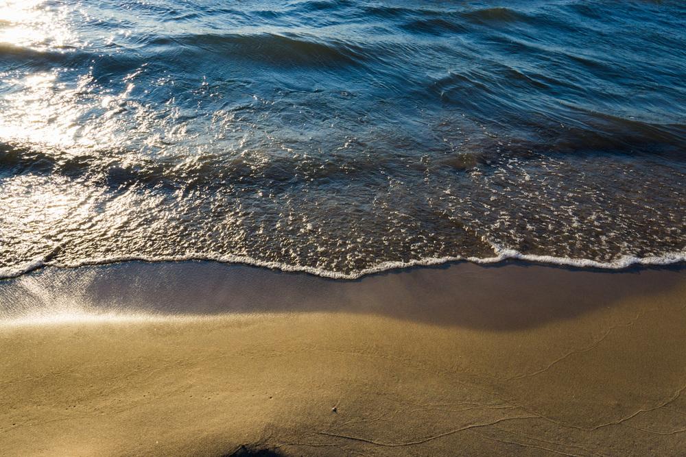 Waves along Lake Michigan's shore