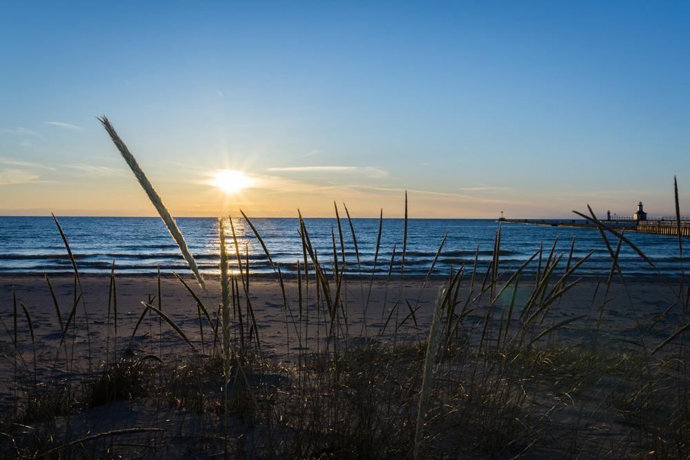 Beautiful Silver Beach sunset