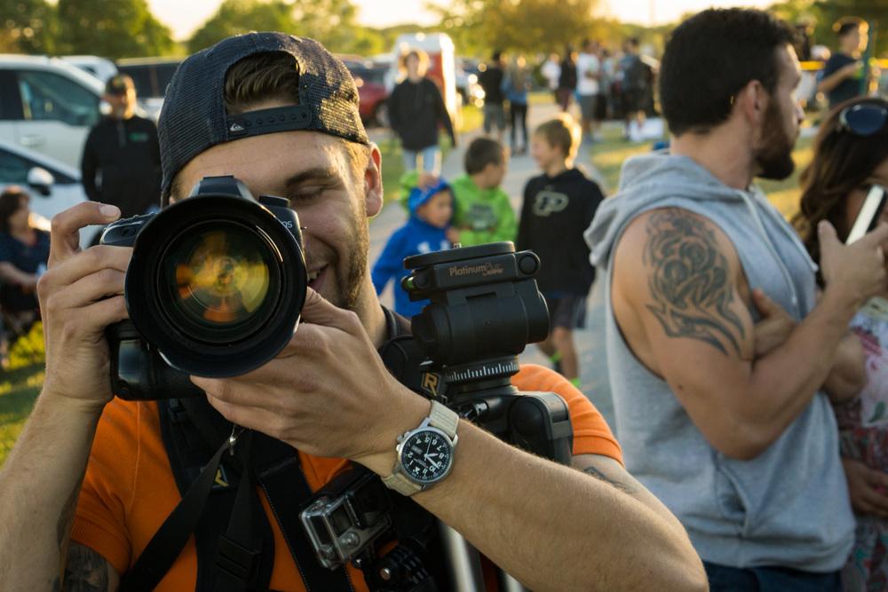 Ron Delhaye taking a photo of me