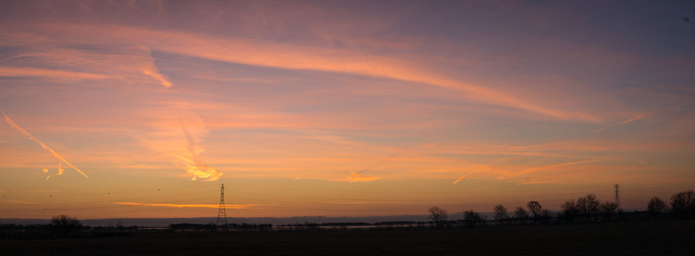 Sunday sunrise in the Northwest Indiana region of the Midwest.