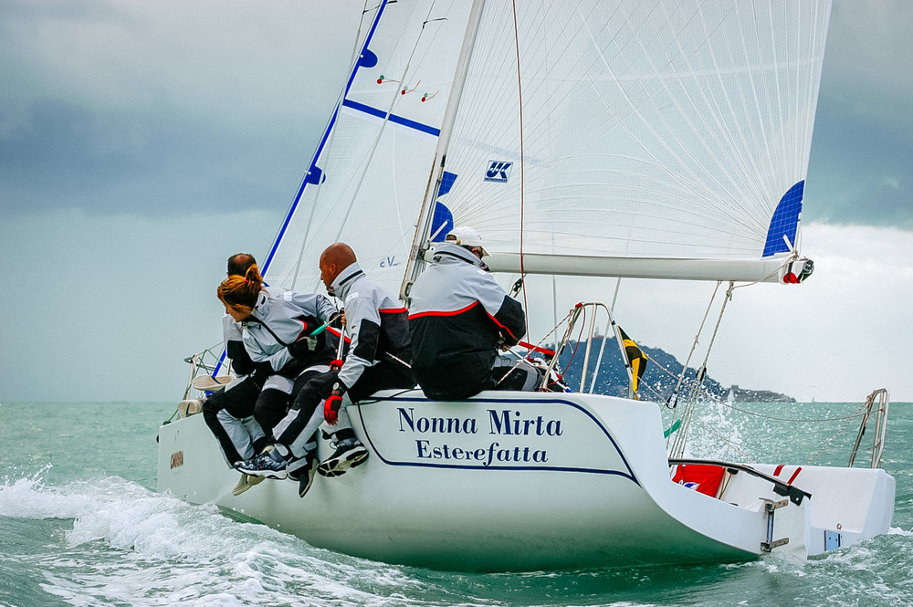 Giovanni Passeggeri's Este24 with Tape-Drive Silver racing sails.