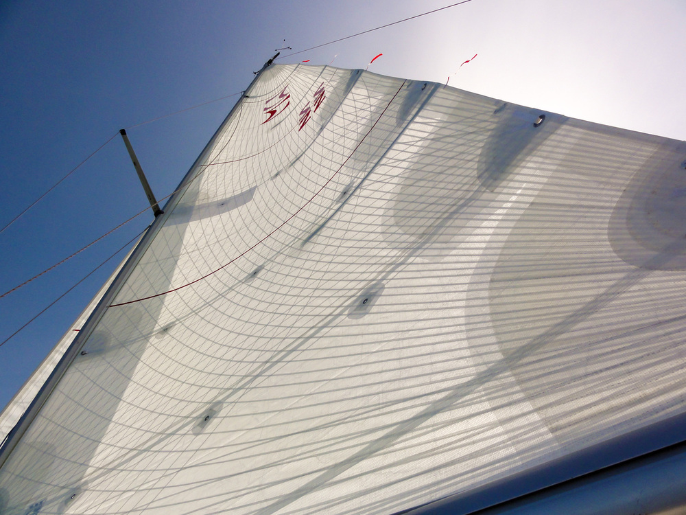 A Tape-Drive Silver Powerhead mainsail for a Sigma 33. Click to enlarge.