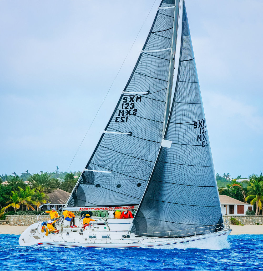 A Beneteau 45s5 with a Tape-Drive carbon black aramid inventory.
