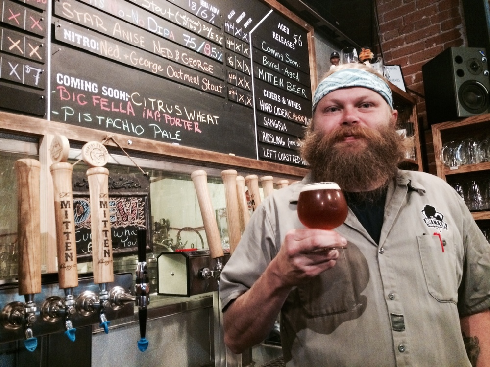 Mitten brewer Wob and his beloved Dock's No-No DIPA.