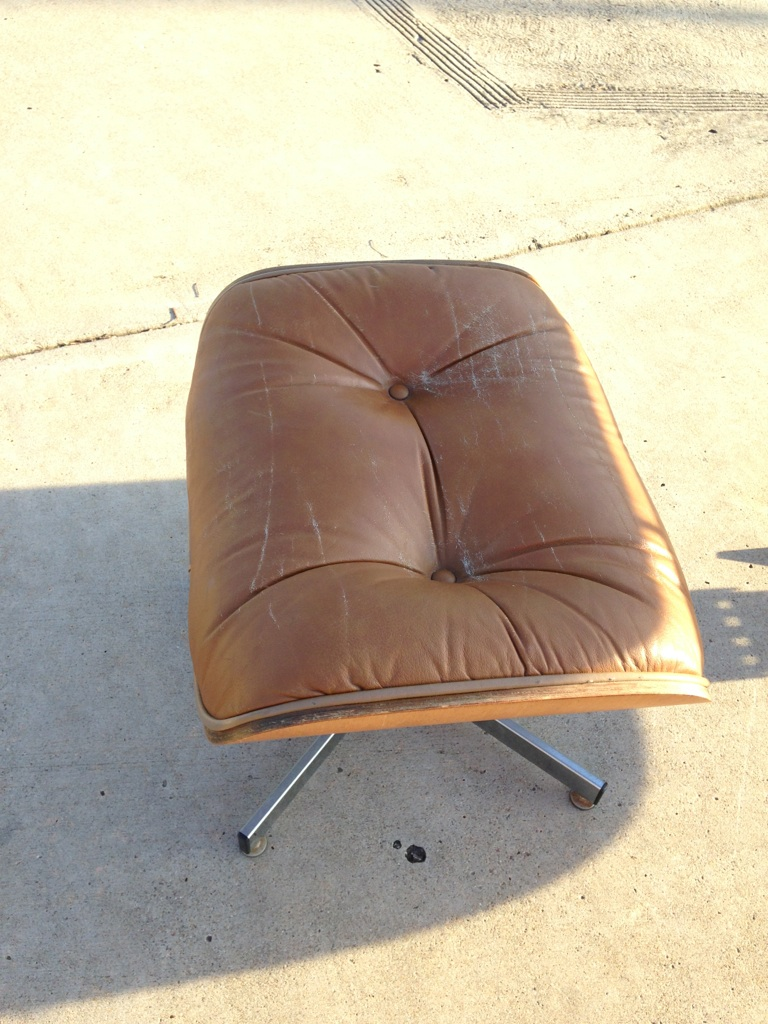Eames Leather Chair w/Ottoman By Herman Miller